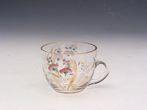 Glass Handle Cup with Color Painting in the Qing Dynasty