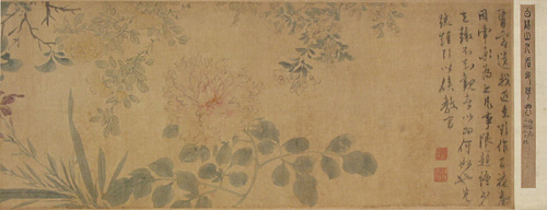 Colored Flower Painting Drawn by Chen Chun in the Ming Dynasty