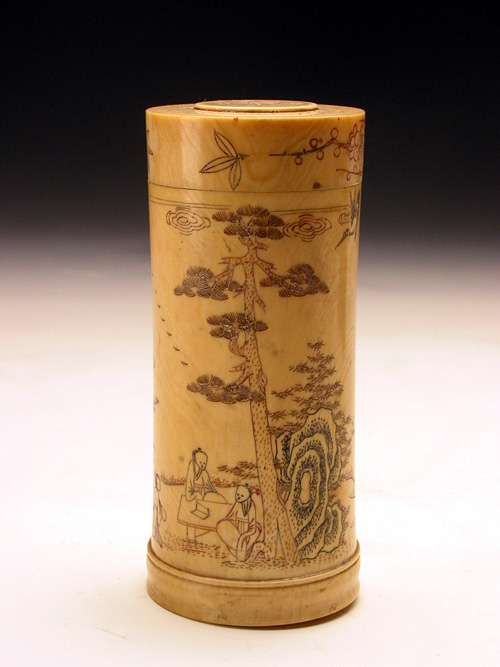 Ivory Wager Holder in the Qing Dynasty (a set)
