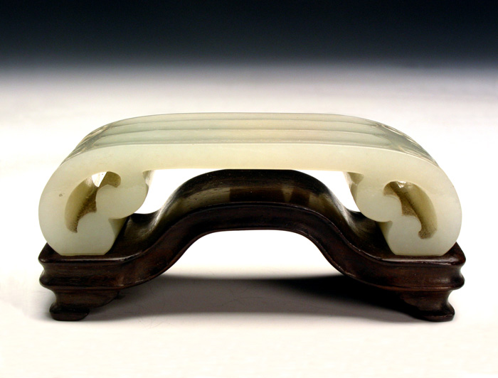Ink Rest Made from Celadonish Jade in the Qing Dynasty