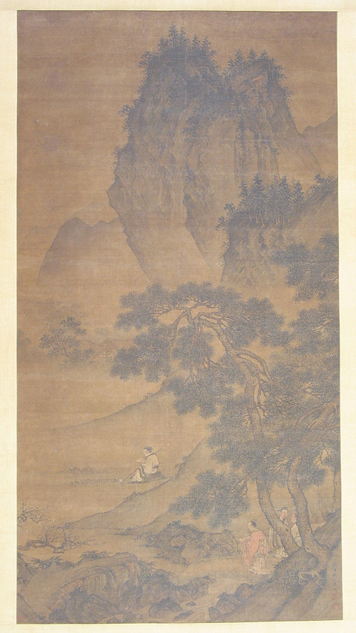 Painting on Invitation of a Celebrated Scholar Drawn by Dai Jin in the Ming Dynasty