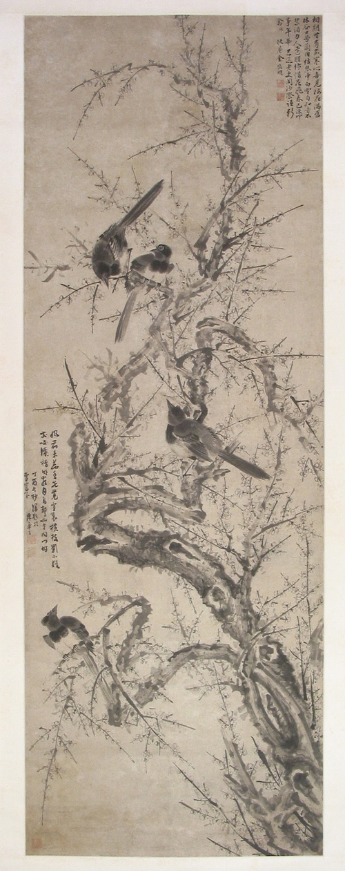 Plum Blossom and Magpie Painting Drawn by Chen Jiayan in the Ming Dynasty