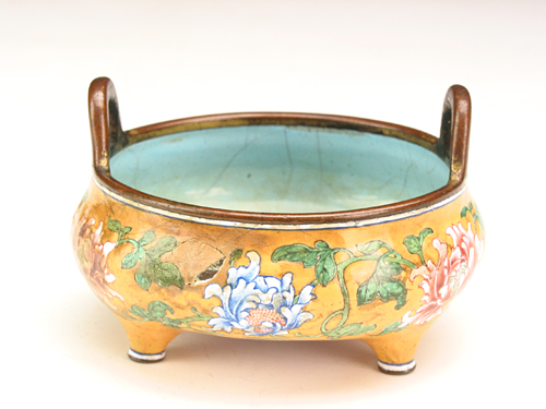Enamel Burner during Kangxi Reign Periods of the Qing Dynasty